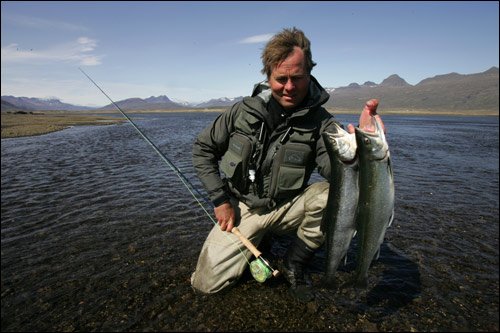 Sea-run arctic char in Breiðdalsá river offer excellent sport and are strong fish fresh from the sea