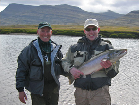 This nice salmon was caught in Pool no. 7 which can provide good salmon fishing for this beat.
